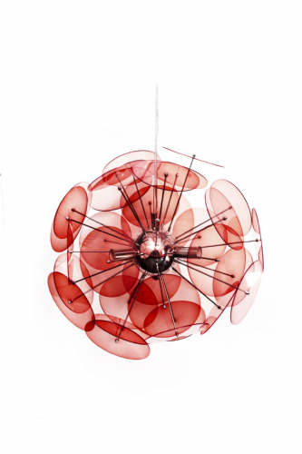 GA Swish Designer Contemporary Red Pendant Lamp - Liquidation Stock RRP £195 !